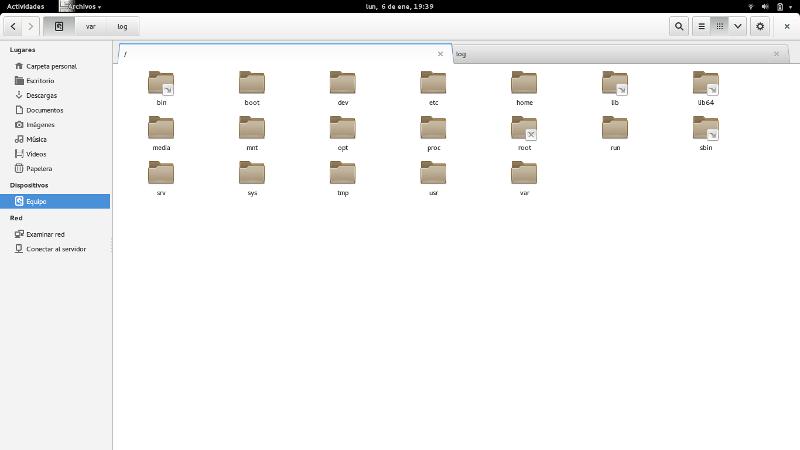 Gestor de ficheros: Nautilus