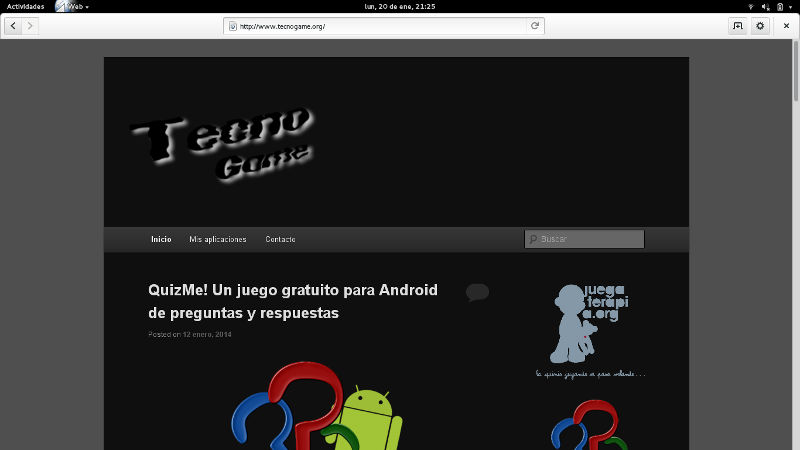 Cliente web por defecto en Gnome