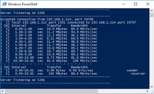 Iperf Windows (Servidor)
